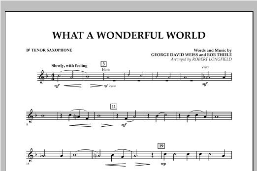 What A Wonderful World - Bb Tenor Saxophone Sheet Music