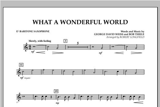 What A Wonderful World - Eb Baritone Saxophone Sheet Music