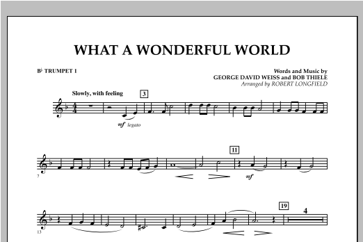 What A Wonderful World - Bb Trumpet 1 Sheet Music