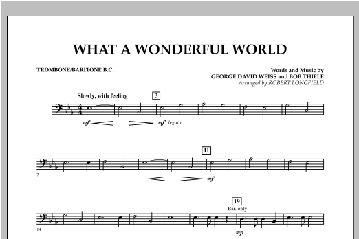 What A Wonderful World - Trombone/Baritone B.C. Sheet Music