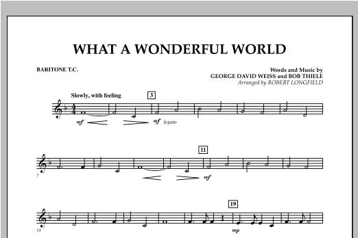 What A Wonderful World - Baritone T.C. Sheet Music