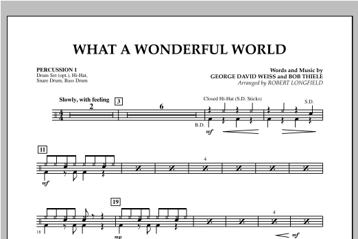 What A Wonderful World - Percussion 1 Sheet Music