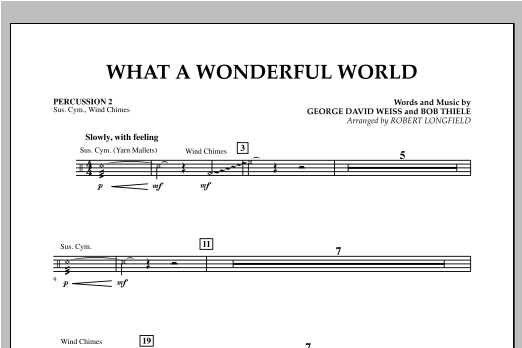 What A Wonderful World - Percussion 2 Sheet Music