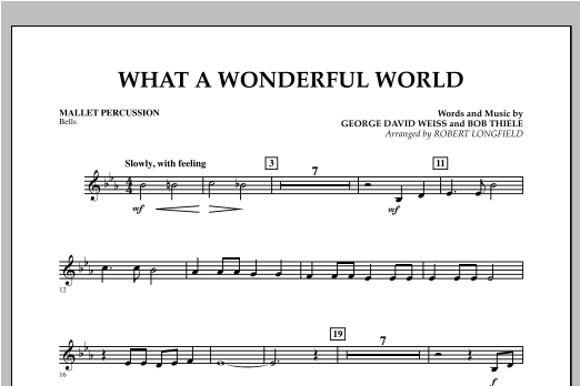 What A Wonderful World - Mallet Percussion Sheet Music