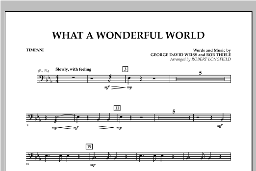 What A Wonderful World - Timpani Sheet Music