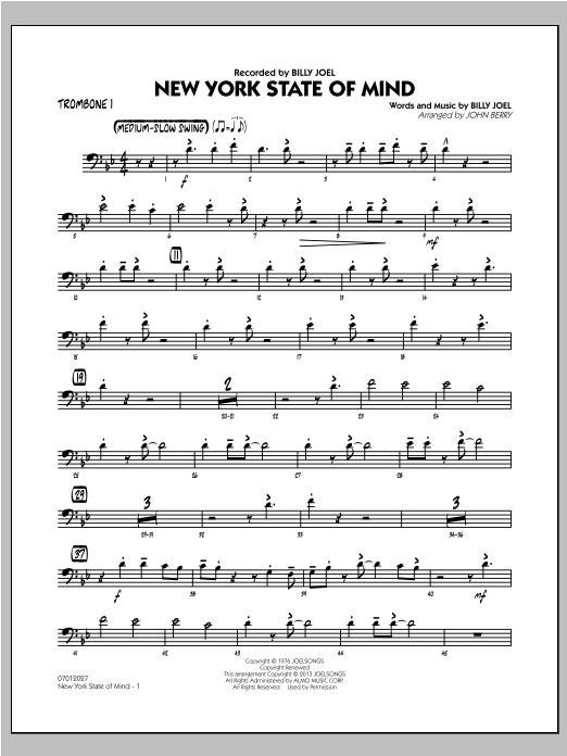 New York State Of Mind - Trombone 1 Sheet Music