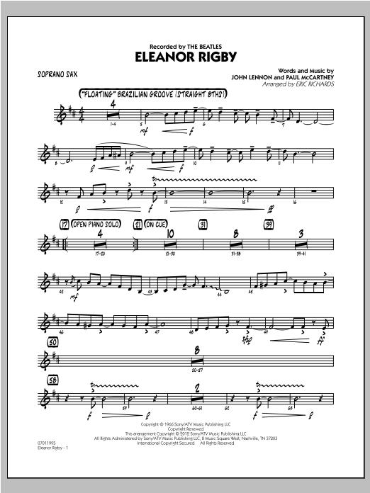 Eleanor Rigby - Soprano Sax Sheet Music