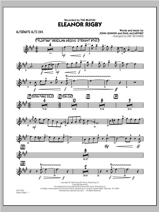 Eleanor Rigby - Alternate Alto Sax Sheet Music