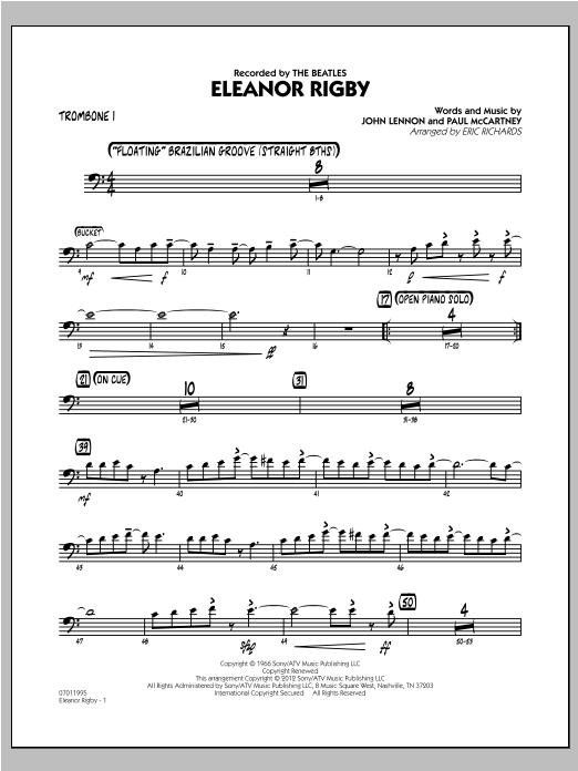 Eleanor Rigby - Trombone 1 Sheet Music