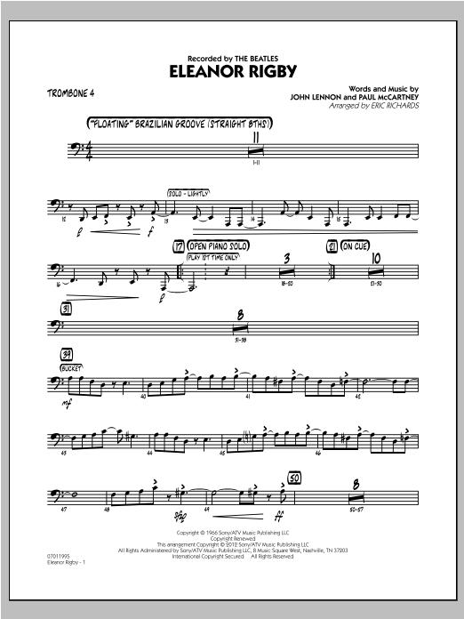 Eleanor Rigby - Trombone 4 Sheet Music