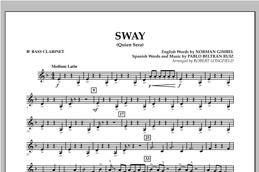 Sway (quien Sera) Dl - Bb Bass Clarinet (Concert Band)