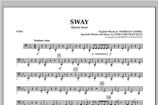 Sway (quien Sera) Dl - Tuba Partituras Digitales