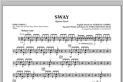 Sway (quien Sera) Dl - Percussion 1 Sheet Music