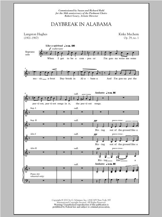 Daybreak In Alabama (SSA Choir)