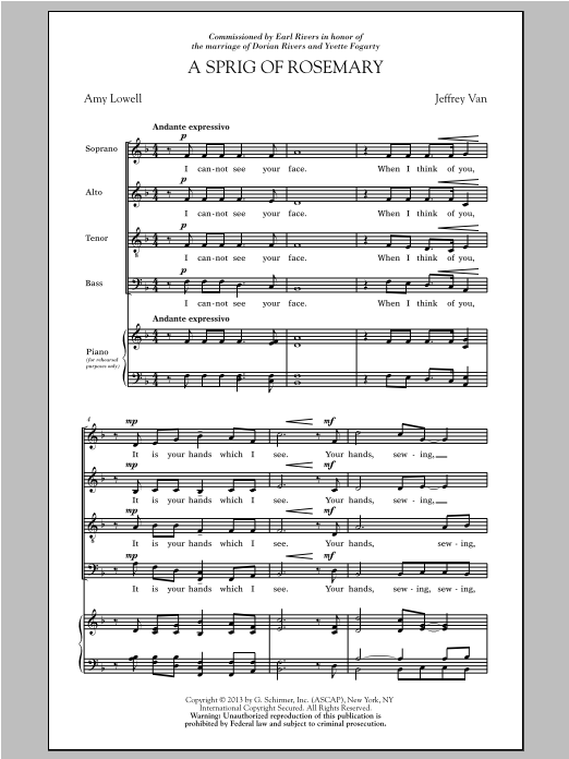 A Sprig Of Rosemary Sheet Music
