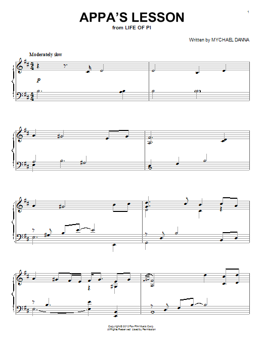Appa's Lesson Sheet Music