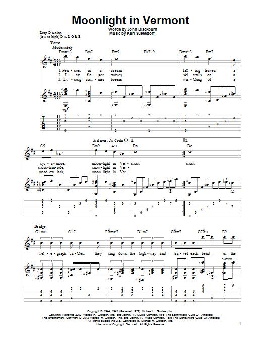 Moonlight in vermont song lyrics
