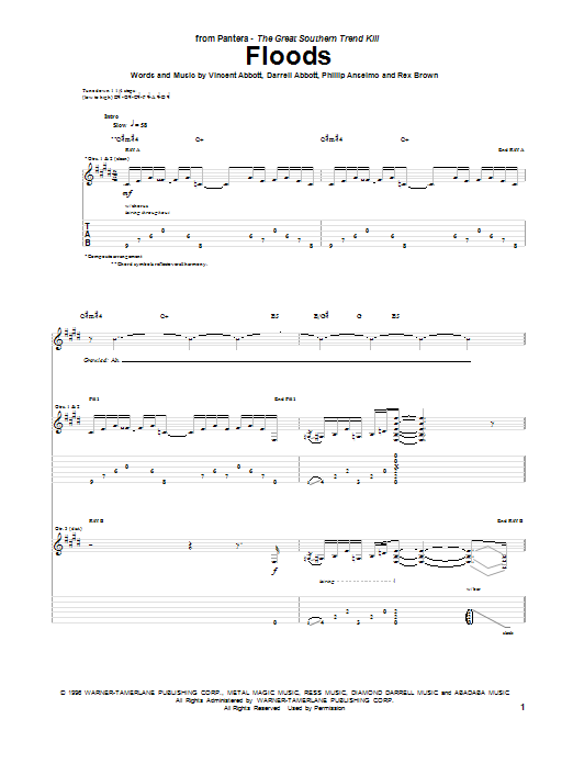 Floods (Guitar Tab)