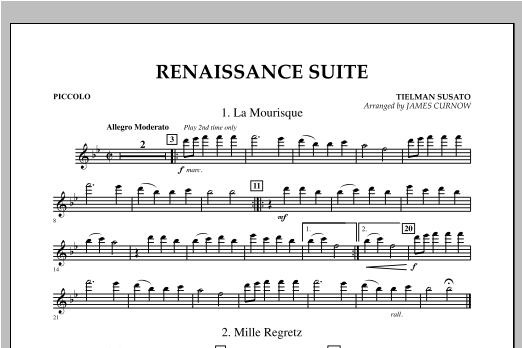 Renaissance Suite - Piccolo Sheet Music
