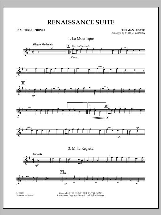 Renaissance Suite - Eb Alto Saxophone 1 Sheet Music