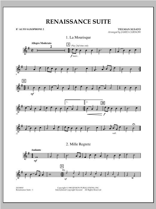 Renaissance Suite - Eb Alto Saxophone 2 Sheet Music
