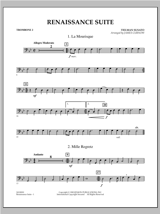 Renaissance Suite - Trombone 2 Sheet Music