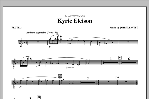 Kyrie Eleison (from Petite Mass) - Flute 2 Sheet Music