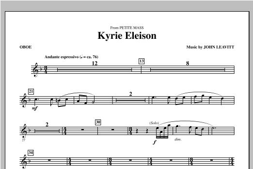 Kyrie Eleison (from Petite Mass) - Oboe Sheet Music