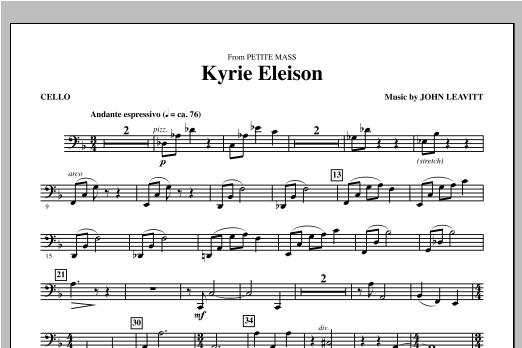 Kyrie Eleison (from Petite Mass) - Cello Sheet Music