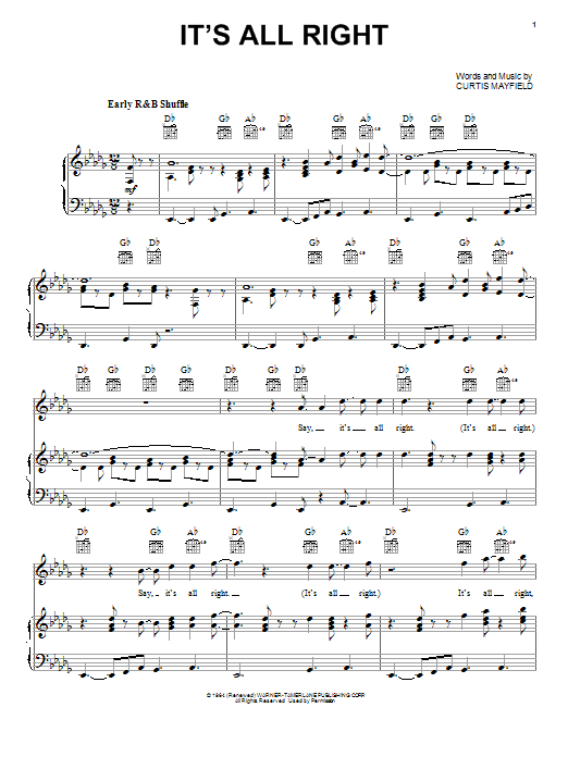 It's All Right Sheet Music