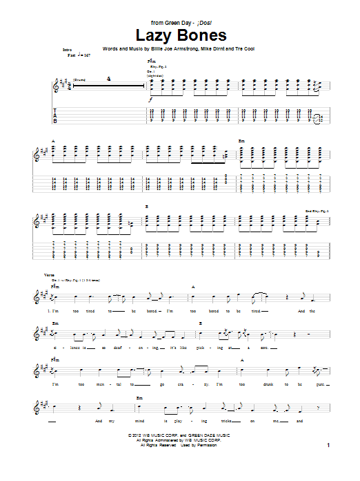 Lazy Bones Sheet Music