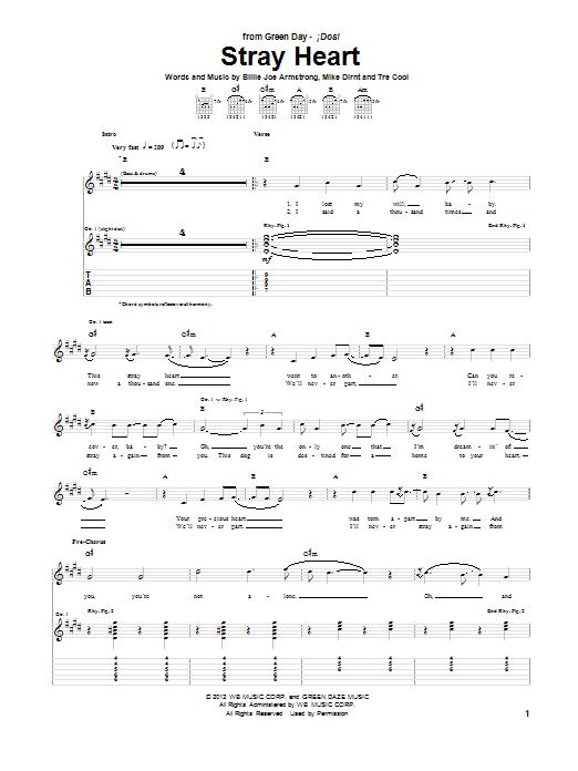 Stray Heart Sheet Music
