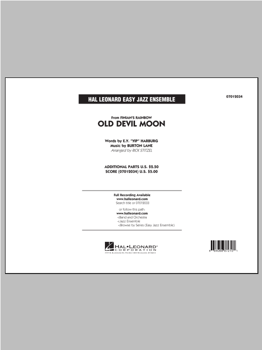 Old Devil Moon - Conductor Score (Full Score) Partition Digitale