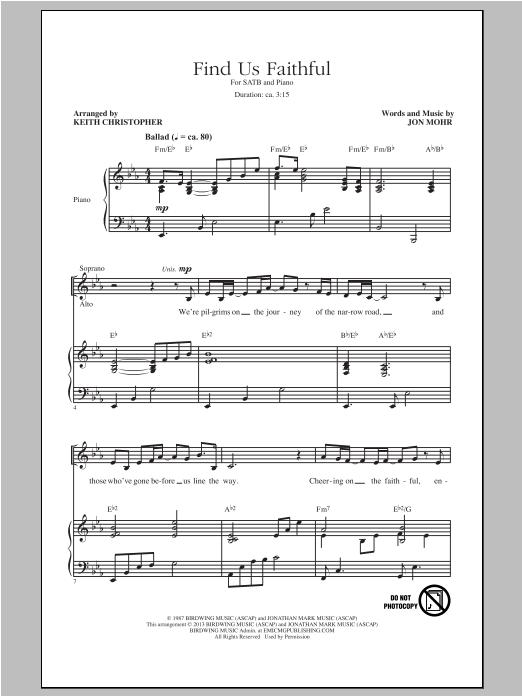 Find Us Faithful (SATB Choir)