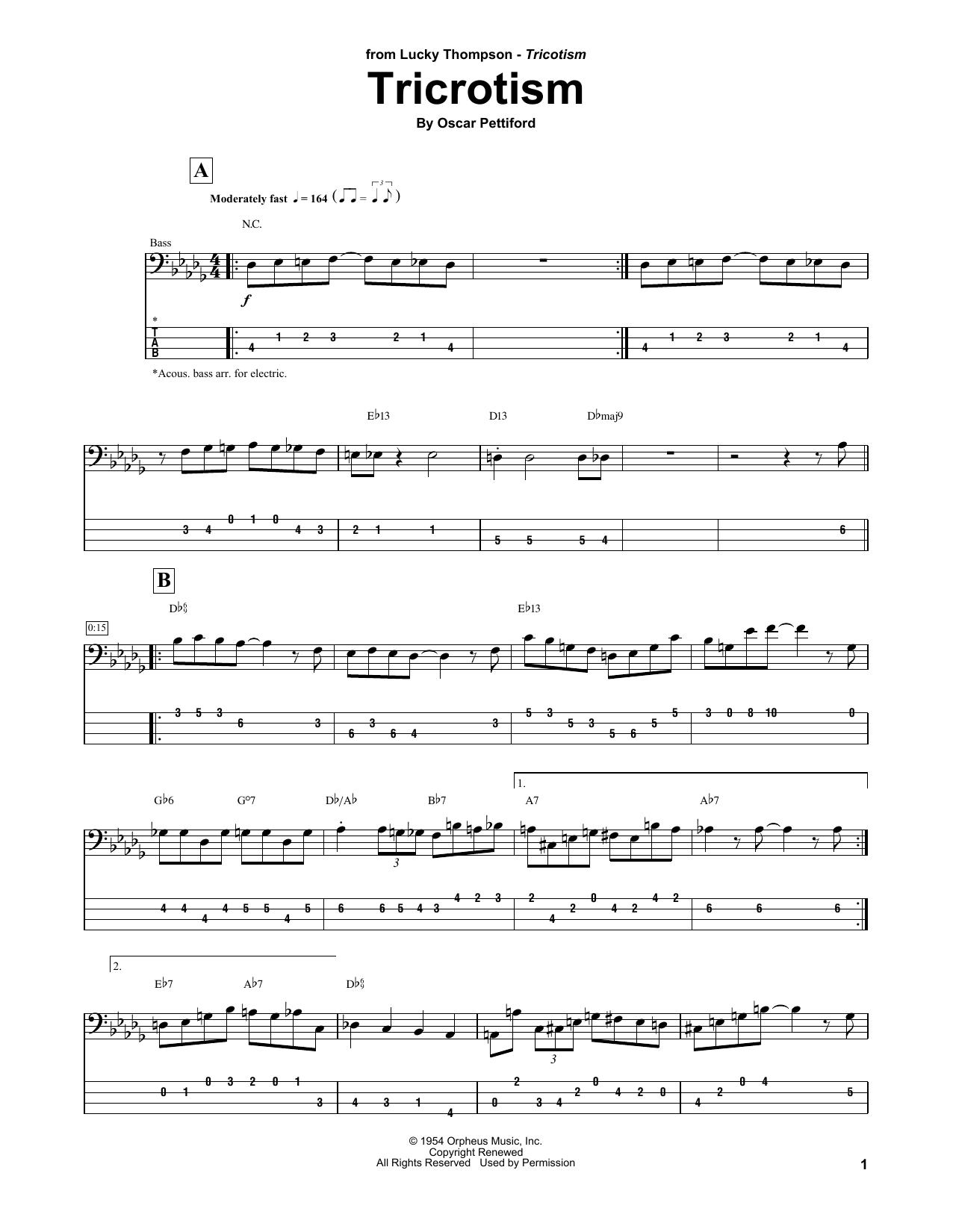 Tricrotism (Bass Guitar Tab)