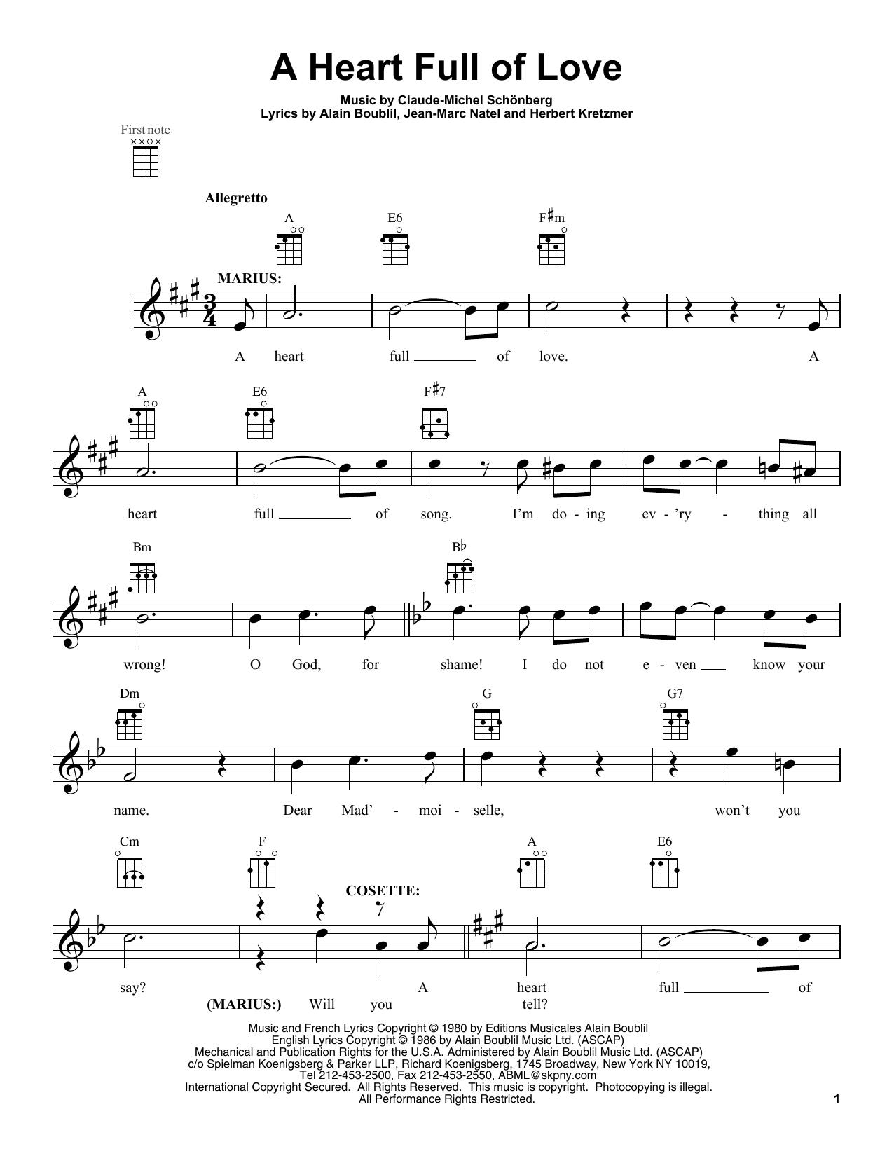 A Heart Full Of Love Sheet Music