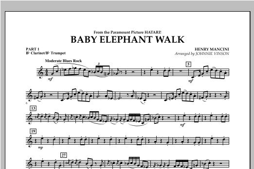 Baby Elephant Walk - Pt.1 - Bb Clarinet/Bb Trumpet Sheet Music