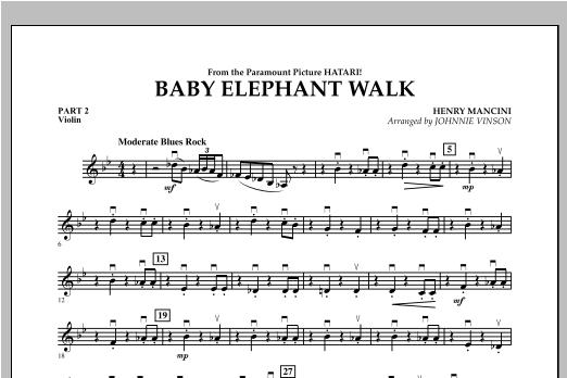 Baby Elephant Walk - Pt.2 - Violin Sheet Music