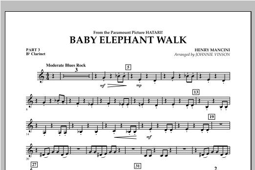 Baby Elephant Walk - Pt.3 - Bb Clarinet Sheet Music