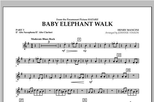Baby Elephant Walk - Pt.3 - Eb Alto Sax/Alto Clar. Sheet Music