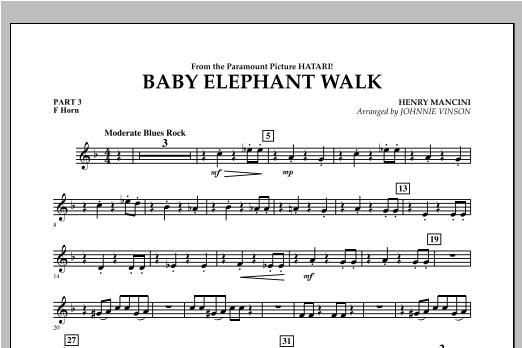 Baby Elephant Walk - Pt.3 - F Horn Sheet Music