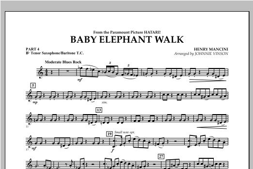 Baby Elephant Walk - Pt.4 - Bb Tenor Sax/Bar. T.C. Sheet Music