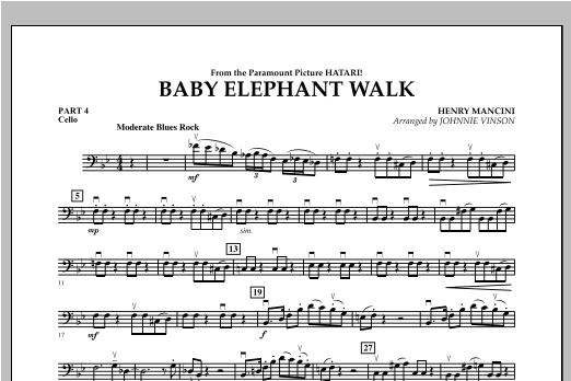 Baby Elephant Walk - Pt.4 - Cello Sheet Music