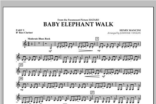 Baby Elephant Walk - Pt.5 - Bb Bass Clarinet Sheet Music