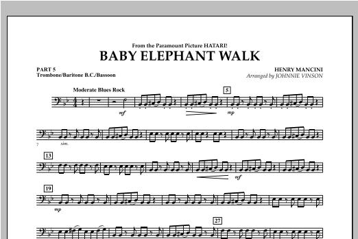 Baby Elephant Walk - Pt.5 - Trombone/Bar. B.C./Bsn. Sheet Music