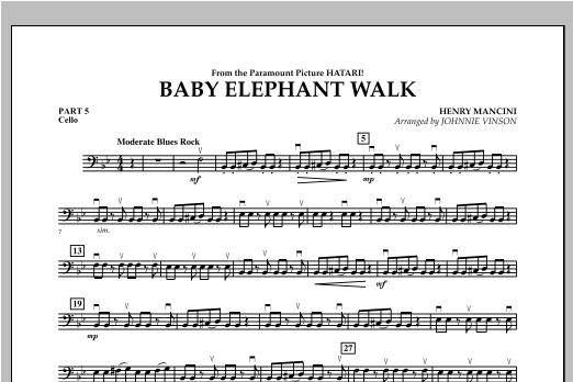 Baby Elephant Walk - Pt.5 - Cello Sheet Music