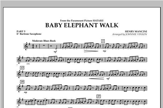 Baby Elephant Walk - Pt.5 - Eb Baritone Saxophone Sheet Music