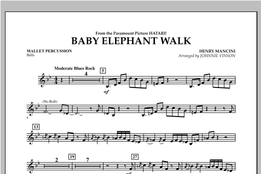 Baby Elephant Walk - Mallet Percussion Sheet Music