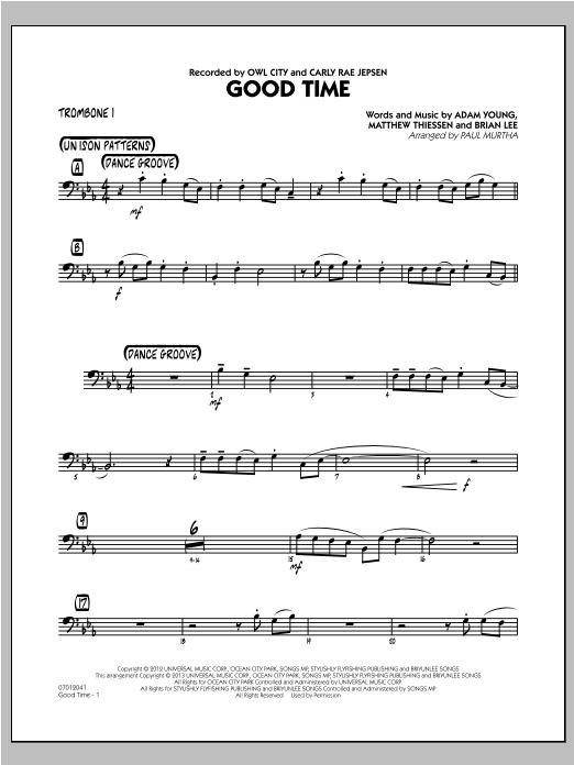 Good Time - Trombone 1 (Jazz Ensemble)