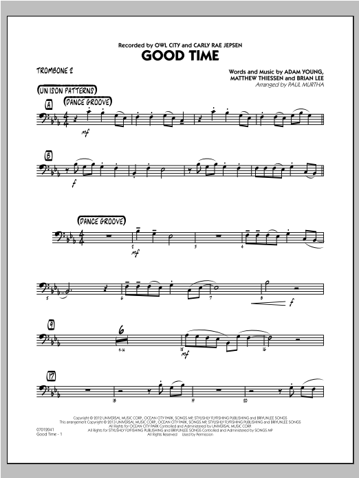 Good Time - Trombone 2 Sheet Music